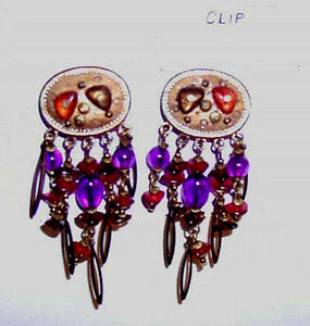 Clip on Chandelier Earrings from an estate.  As shown