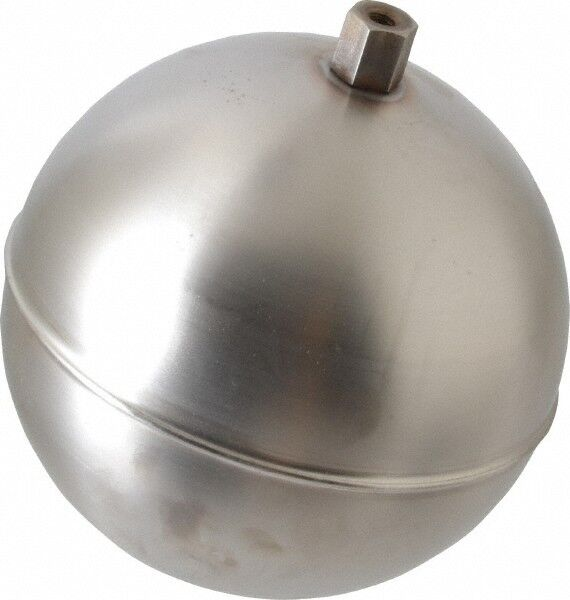 Made in USA 5 Inch Diameter, Spherical, Hex Spud Connection, Metal Float 1/4-...