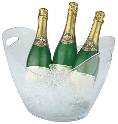35 Flasche Wein Kühler (Flaschenkühler Weinkühler Sektkühler Wasserkühler 35x27x25,5 cm weiß Gastlando)