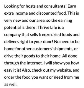 Thrive Life (freeze dried foods) Stratford Kitchener Area image 2