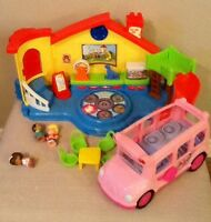 Elmo, little people, vetch, doc mcstuffins, tunnels and tent
