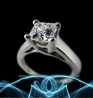 New 0.95CT Solitary SI Diamond Engagement Ring 18K in White Gold