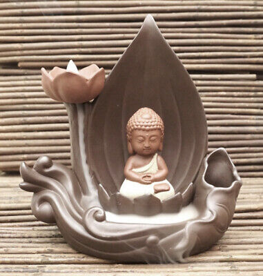 Bruciatore di incenso a flusso inverso in ceramica, 20x20x11cm.