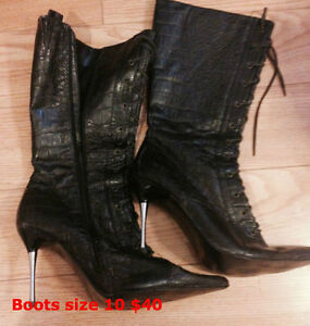 Boots/Heels/Shoes size 10 $40 for one