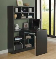 SALE 30% OFF - BRAND NEW BLACK OR WHITE COMPUTER DESK WITH SHELF