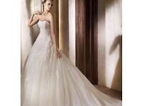 *STUNNING* Pronovias Alcanar size 16 lace tulle wedding dress