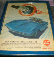 1963 Chevrolet Corvette Shark featured in this ad - mounted