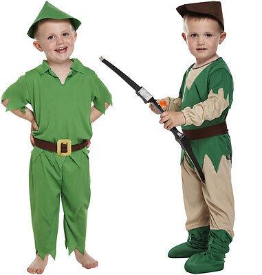 Jungen Robin Hood Peter Pan Hunter Verkleidung Buchwoche Kinder (Peter Pan Kinder Kostüme)