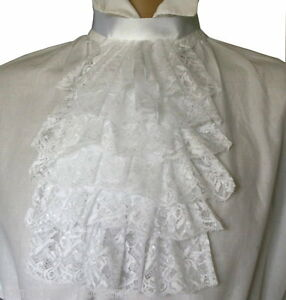 Large lace jabot / cravat costume Victorian Edwardian Regency Steampunk