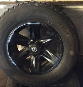 17in pathfinder rims and studded tires