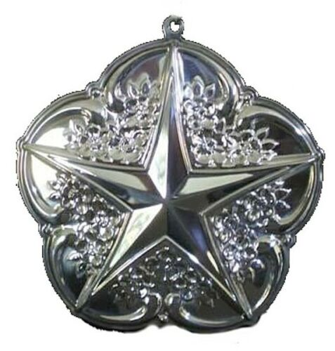 Gorham Rose Tiara Star Sterling Silver Christmas Ornament