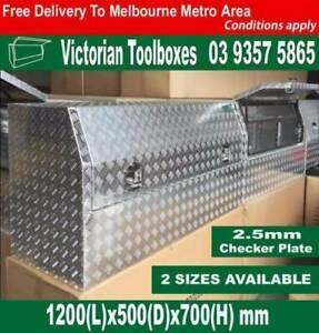 1200mm long 700mm height half recessed door ute toolbox
