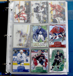 Collectible NHL Hockey Cards Binder 1990's-2000 - 63 Assorted