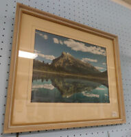Antique Colorized Framed Mountain Photo - BLUE JAR Antique Mall