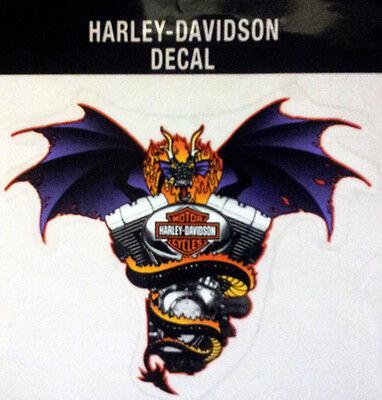 Harley Davidson Selten Fledermaus Flügel Drache Aufkleber 6 Aufkleber