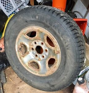 245/75R16 studded winters on rims