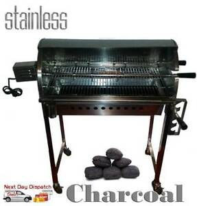 Stainless Steel Chicken BBQ Rotisserie Charcoal Spit + Motor NEW Castle Hill The Hills District Preview