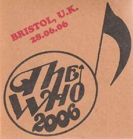 THE WHO LIVE AT ASHTON GATE BRISTOL 2 CD ENTIRE CONCERT 2006