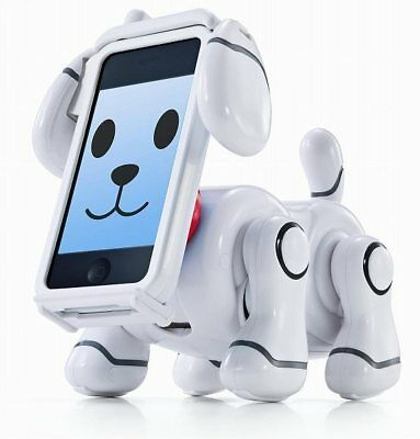 BANDAI Percipient Pet SMP-501W White Dog Robot for iPhone