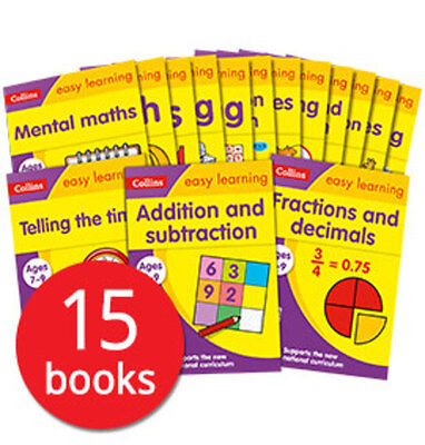 Collins Easy Learning: Ages 7-9 Collection - 15 Books