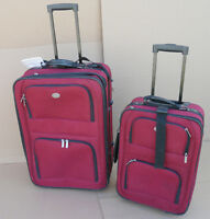 "SET OF RED ""DESTINATION"" SUITCASES‏"