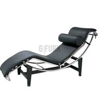 Le Corbusier Style Chaise Longue LC4 Black | Lounge Chair |