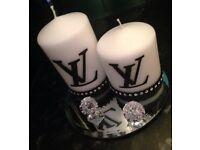 Gorgeous designer candle set