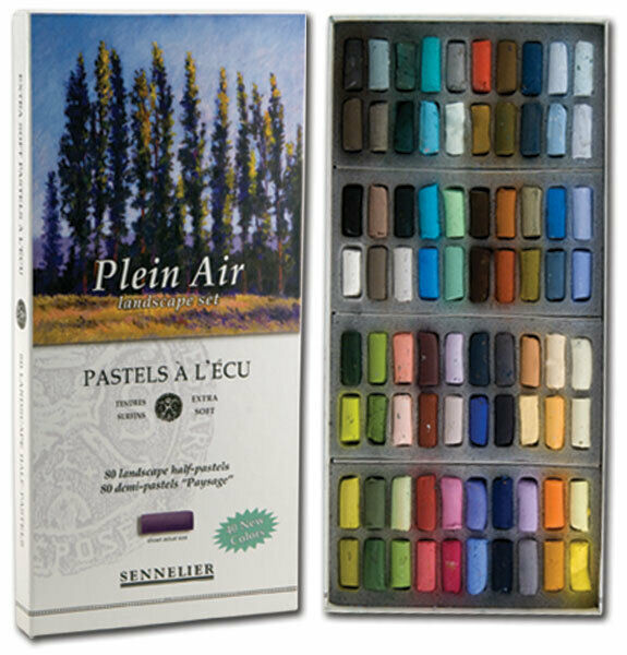 Sennelier Soft Pastels Cardboard Box Set of 80 Half Stick - Plein Air Landscape