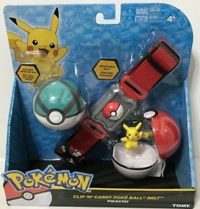 CLIP N CARRY POKE BALL BELT PIKACHU AT TEDDY N ME