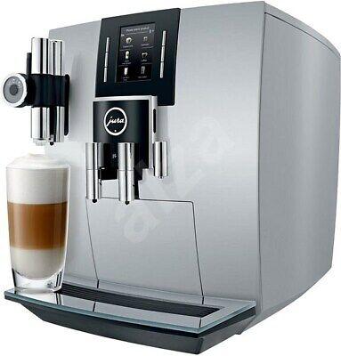 JURA 15111 J6 Automatic Bean to cup Coffee Machine Brilliant Silver J.O.E Smart