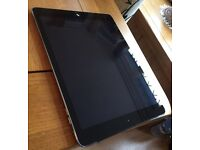 apple ipad air 16 gb wi fi and cellula 4 g its like new comes with lether case the box and charger