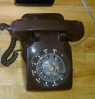 Telephone Vintage à roulette - Couleur Chocolat -