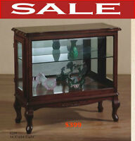 Best Time to buy, curio, hutches, display wall cabinets