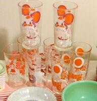 Ensemble de 8 verres vintage Père Noël et lutins vignobles
