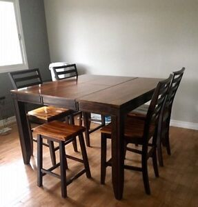 Cherry Wood Pub Style Table with Six Chairs  Belleville Belleville Area image 2