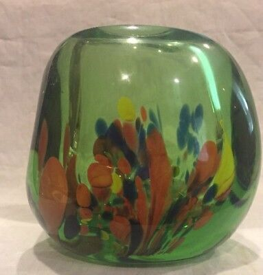 VTG DOMINICK LABINO ART GLASS VASE SIGNED LABINO & DATED~ 5-1971 ~
