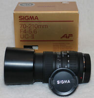 Sigma 70-210mm compact AF zoom for Sony/Minolta