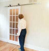Add space with barn door hardware