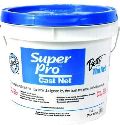 NEW! NEW! Betts 24-8 Super Pro Mono Bait Cast Net 8' 1/4