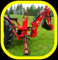 3 point hitch BACKHOEs with self contained PTO power hydraulics