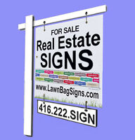 Real Estate Signs FOR SALE sign, OPEN HOUSE sign; FOR  RENT sign