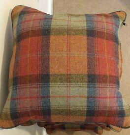 6 x New tartan cushions