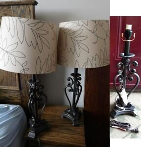 Pair + 1 of beautiful, BRAND NEW Large Table Lamps  (3 lamps)