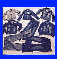 ★★★Lots de 1600  jeans et veston de jeans neuf femme et fille★★★