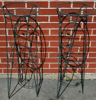 Pair of Matching Metal Plant Stands