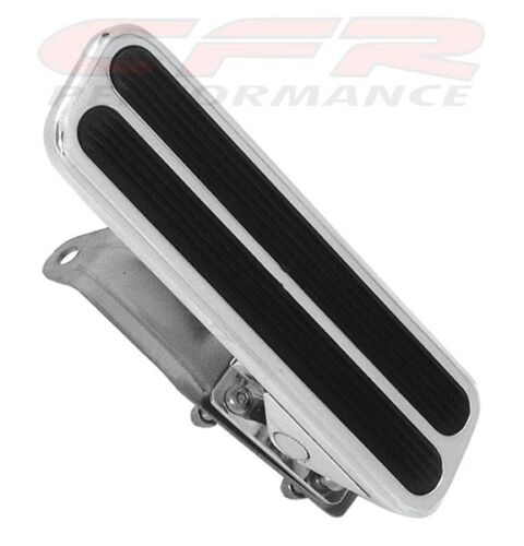 POLISHED-ALUMINUM-STREET-ROD-THROTTLE-GAS-PEDAL-CHEVY-FORD-MOPAR-floor-mount