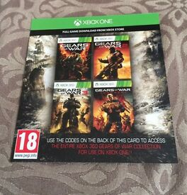 Xbox one codes for the entire Xbox 360 gears of war games