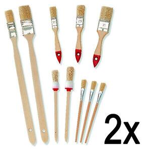 2 x Maler Pinsel Set 10 tlg. Lackierpinsel Lack Lasur Rundpinsel Flachpinsel
