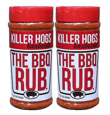 Killer Hogs The BBQ Rub Barbecue Seasoning 12oz (2 Pack)