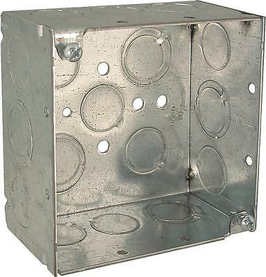 New Lot 6 Raco 8232 Metal 4 X 2 Deep Square Electrical Boxes 6150908